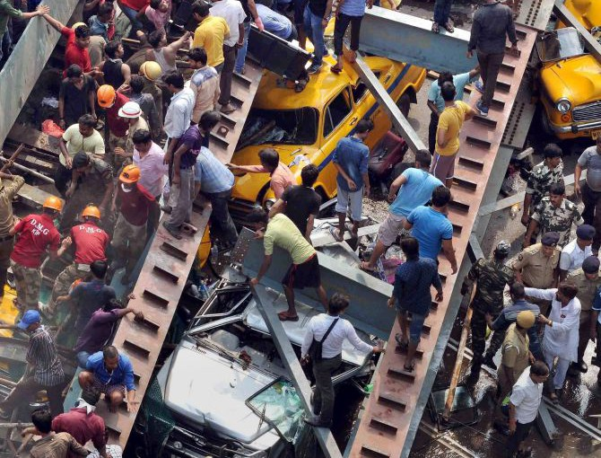 Kolkata Flyover Collapsed 25 killed and Several Injured